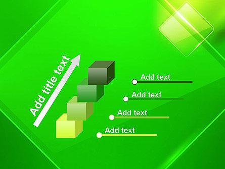 Green Rhombus PowerPoint Template Slide 14