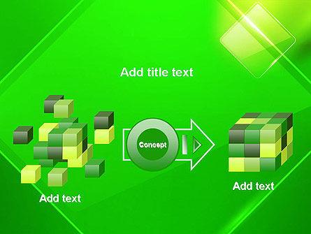 Green Rhombus PowerPoint Template Slide 17