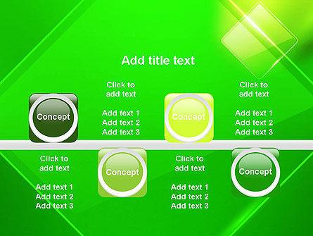 Green Rhombus PowerPoint Template Slide 18