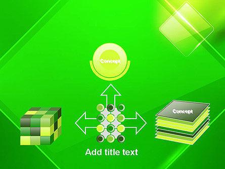 Green Rhombus PowerPoint Template Slide 19