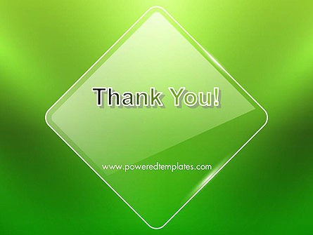 Green Rhombus PowerPoint Template Slide 20