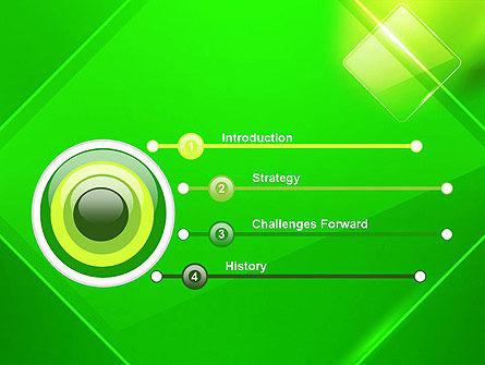 Green Rhombus PowerPoint Template Slide 3