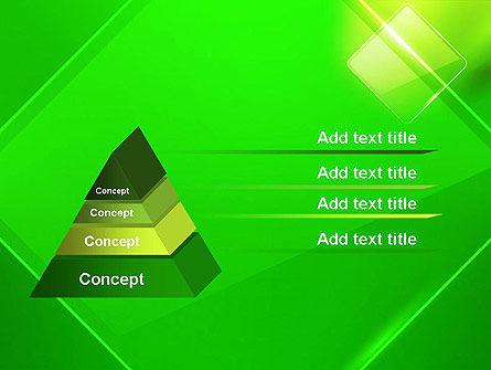 Green Rhombus PowerPoint Template Slide 4