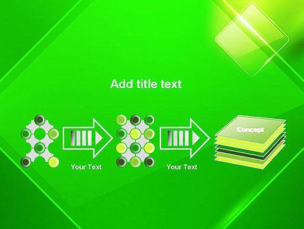 Green Rhombus PowerPoint Template Slide 9