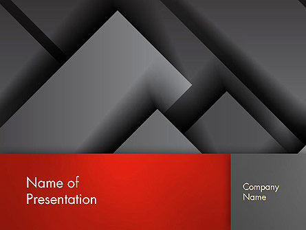 Business: Gray Metal Blocs PowerPoint Template #13087