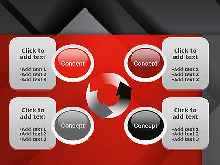 Gray Metal Blocs PowerPoint Template Slide 9