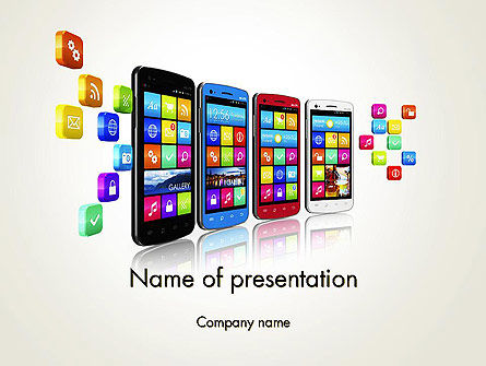 Mobile Application Development PowerPoint Template, 13088, Technology and Science — PoweredTemplate.com