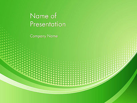 Abstract/Textures: Green Abstract Waves and Dots PowerPoint Template #13089