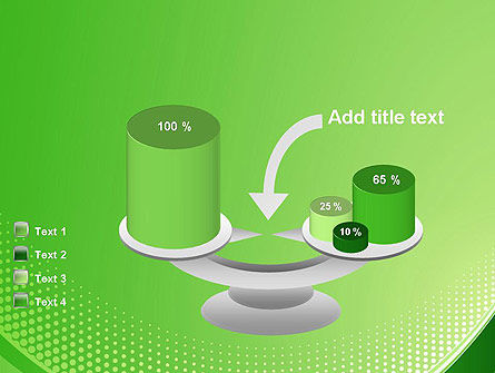 Green Abstract Waves and Dots PowerPoint Template Slide 10