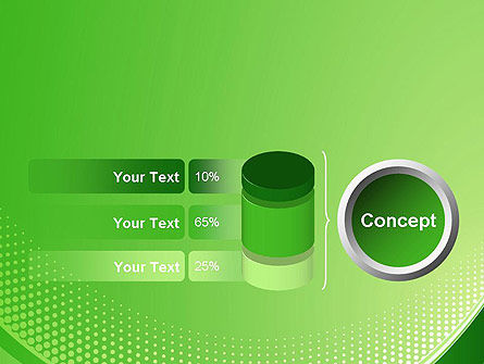 Green Abstract Waves and Dots PowerPoint Template Slide 11