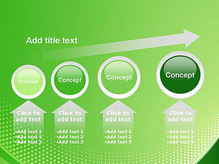Green Abstract Waves and Dots PowerPoint Template Slide 13