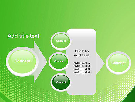 Green Abstract Waves and Dots PowerPoint Template Slide 17