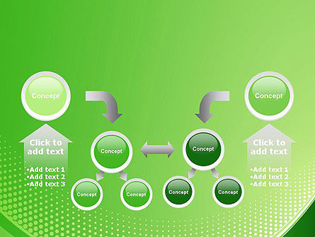 Green Abstract Waves and Dots PowerPoint Template Slide 19