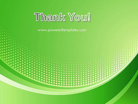 Green Abstract Waves and Dots PowerPoint Template Slide 20