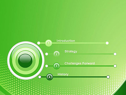 Green Abstract Waves and Dots PowerPoint Template Slide 3