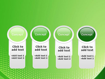 Green Abstract Waves and Dots PowerPoint Template Slide 5