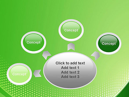 Green Abstract Waves and Dots PowerPoint Template Slide 7