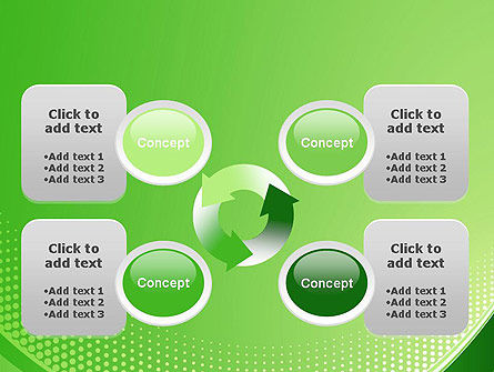 Green Abstract Waves and Dots PowerPoint Template Slide 9