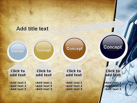 Ancient Letter and Ink Pen PowerPoint Template Slide 13
