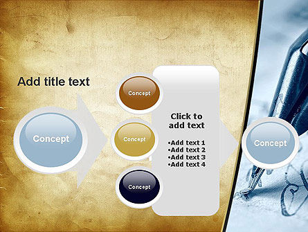 Ancient Letter and Ink Pen PowerPoint Template Slide 17