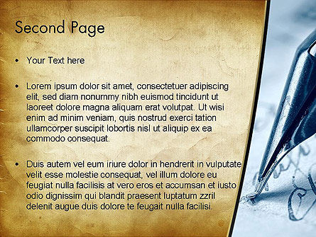 Ancient Letter and Ink Pen PowerPoint Template Slide 2