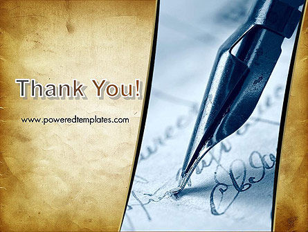 Ancient Letter and Ink Pen PowerPoint Template Slide 20