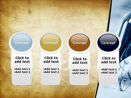 Ancient Letter and Ink Pen PowerPoint Template Slide 5