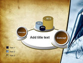 Ancient Letter and Ink Pen PowerPoint Template#16
