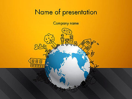 Global Ecology PowerPoint Template, 13092, Global — PoweredTemplate.com