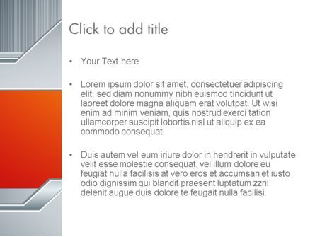 Polished Metal Surface PowerPoint Template, Slide 3, 13093, Abstract/Textures — PoweredTemplate.com