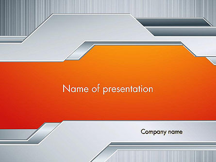 Polished Metal Surface PowerPoint Template, 13093, Abstract/Textures — PoweredTemplate.com