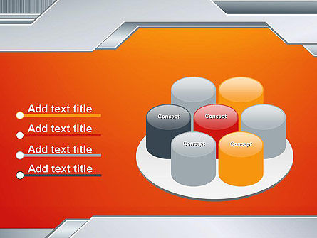 Polished Metal Surface PowerPoint Template Slide 12