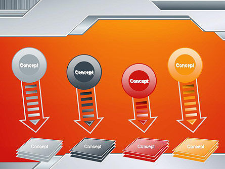 Polished Metal Surface PowerPoint Template Slide 8