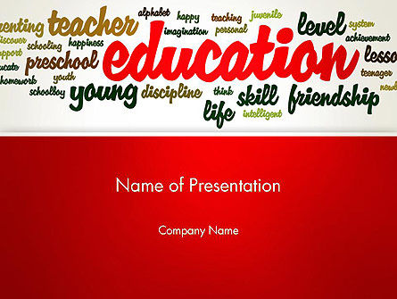Education Word Cloud PowerPoint Template