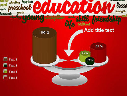 Education Word Cloud PowerPoint Template Slide 10