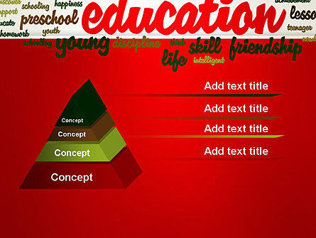 Education Word Cloud PowerPoint Template Slide 12