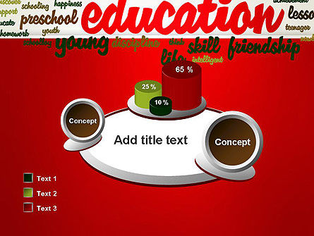 Education Word Cloud PowerPoint Template Slide 16