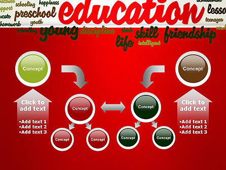 Education Word Cloud PowerPoint Template Slide 19