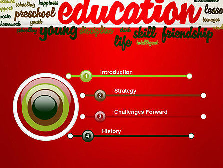 Education Word Cloud PowerPoint Template Slide 3
