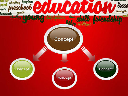 Education Word Cloud PowerPoint Template Slide 4