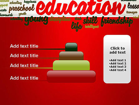 Education Word Cloud PowerPoint Template Slide 8