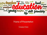 Education & Training: Education Word Cloud PowerPoint Template #13094