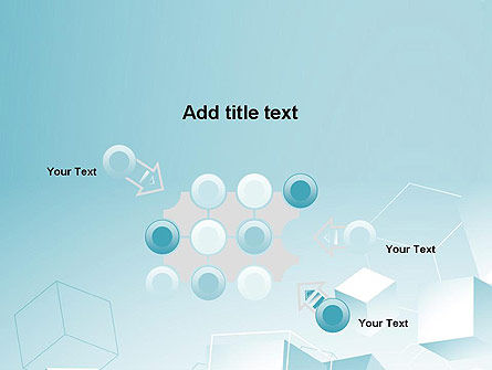 Blue Cubes PowerPoint Template Slide 10