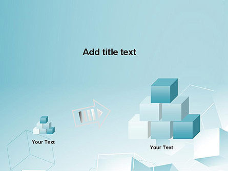 Blue Cubes PowerPoint Template Slide 13