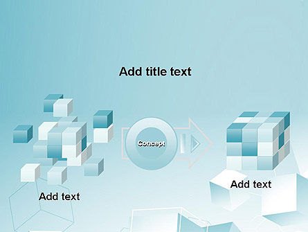 Blue Cubes PowerPoint Template Slide 17