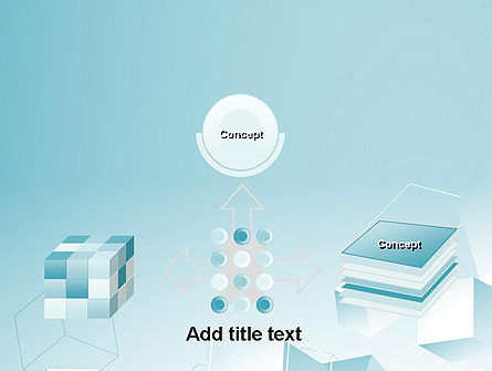 Blue Cubes PowerPoint Template Slide 19