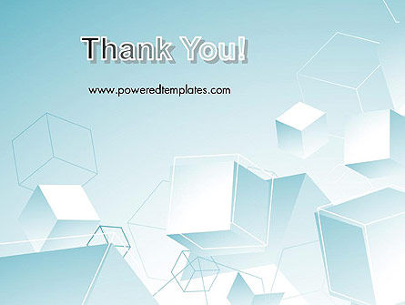 Blue Cubes PowerPoint Template Slide 20
