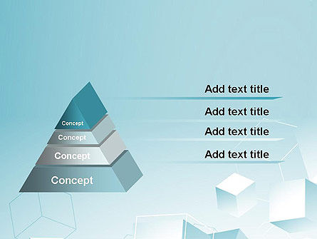 Blue Cubes PowerPoint Template Slide 4