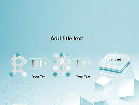 Blue Cubes PowerPoint Template Slide 9