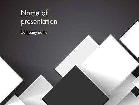 Abstract/Textures: Abstract Overlapping Squares PowerPoint Template #13096